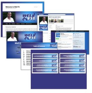 Wellfit graphic and web design by Pat Creedon Design, Inc.