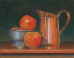 Still life with three apples