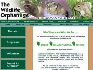 Wildlife Rescue Groups' website