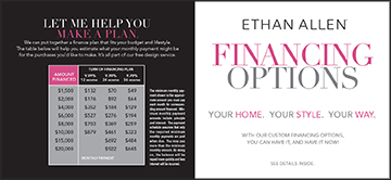 Finance Brochure, front and back