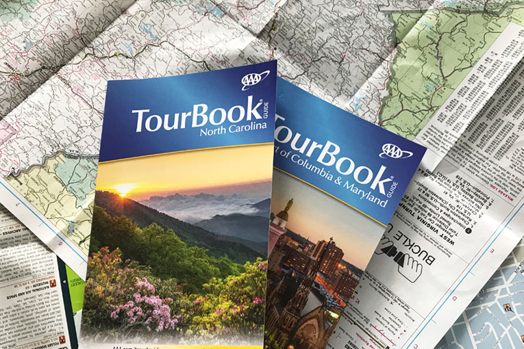 Tour books and maps