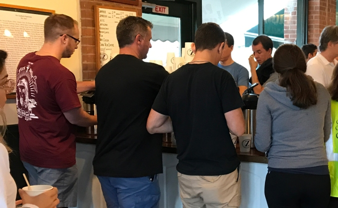 Networking at the coffee shop