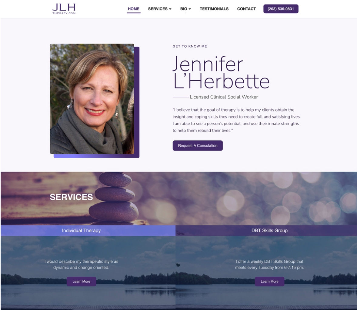 Website after it was revised.