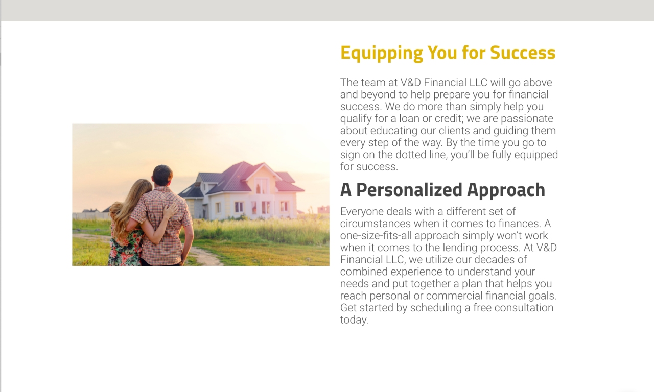 A website describing the benefits which shows their value.